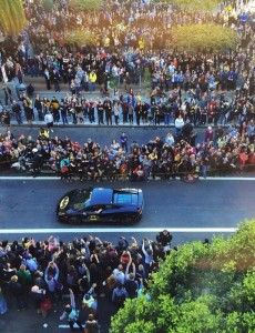 Batkid in batmobile