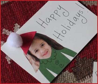 holiday crafts card