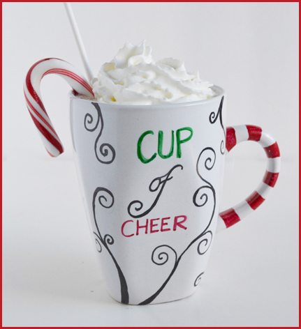 holiday crafts mug