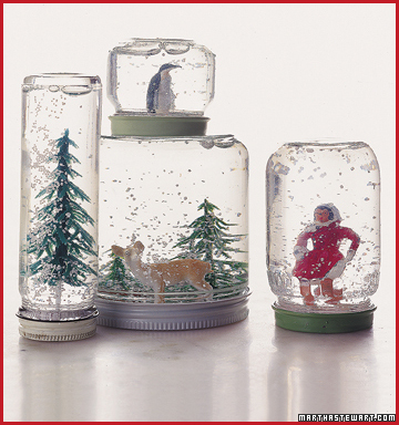 holiday crafts snow globe