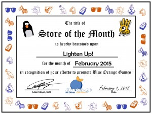 store of the month certificate