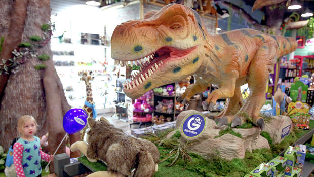 The dinosaur at Legacy Toys, Duluth! (Photo: Duluth News Tribune)