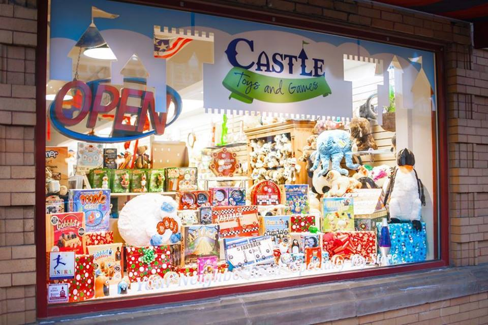 Castle Toys and Games in Beaver, PA. Check out all those Blue Orange games!