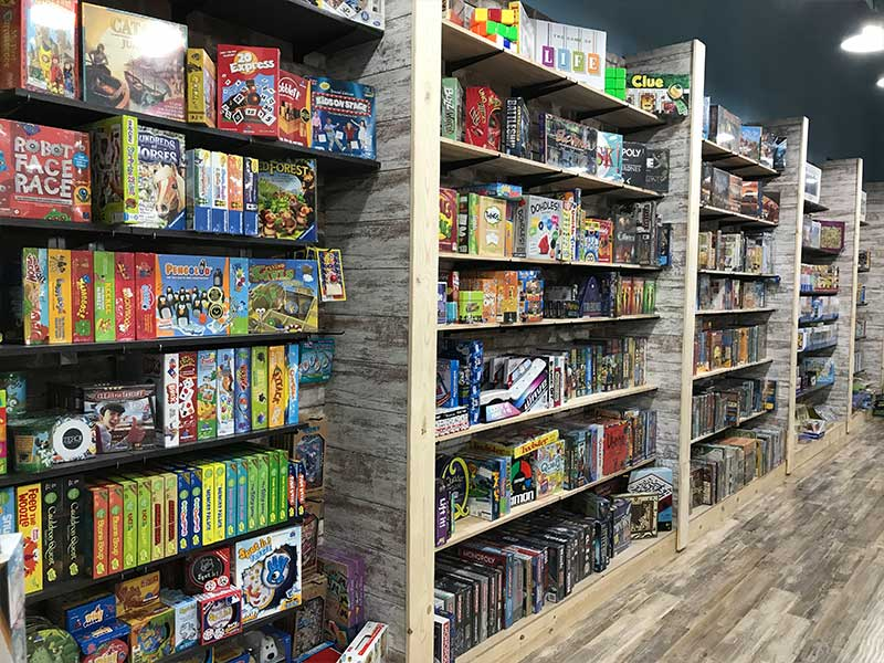 The game section at their flagship store in Ely, MN. (photo credit: Legacy Toys website)